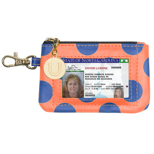 Royal Blue & Orange ID Case - Lillybee Style