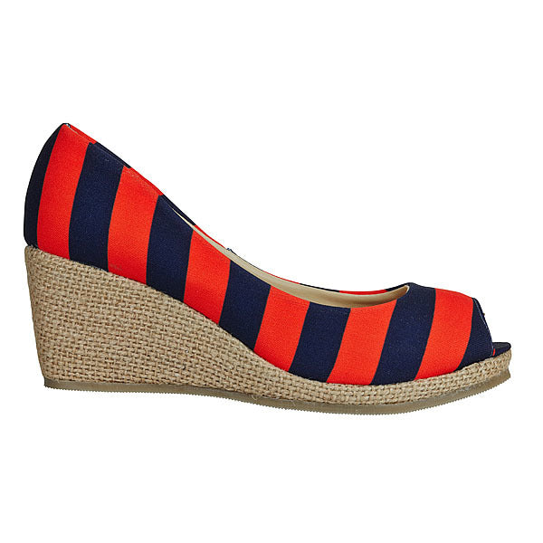 Dark Blue & Orange Wedges - Lillybee Style
