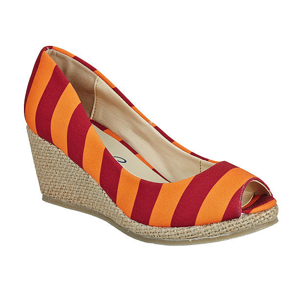 Maroon & Orange Wedges - Lillybee Style