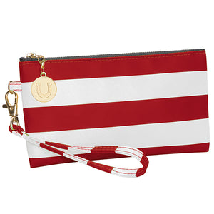 Red & White Wristlet - Lillybee Style