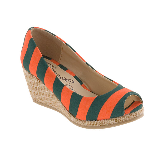 Green & Orange Wedges - Lillybee Style