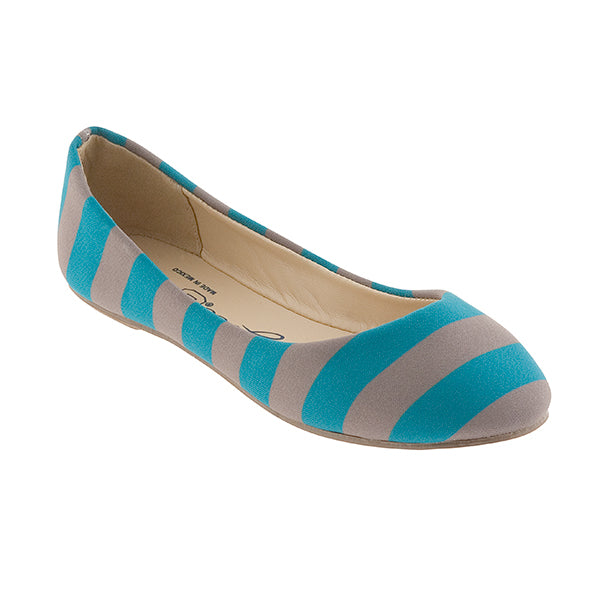 Turquoise & Gray Flats