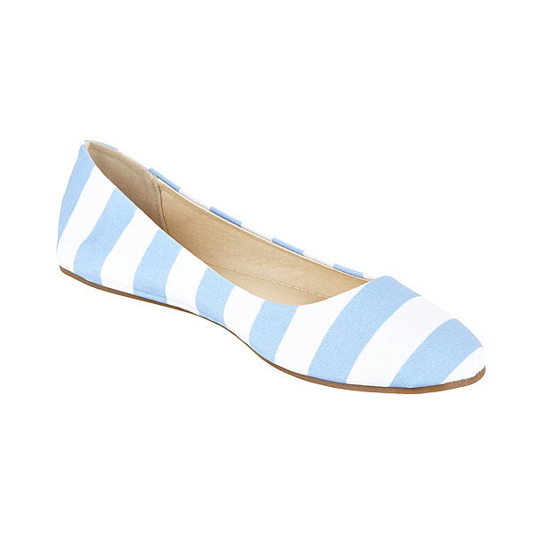 Light Blue & White Flats - Lillybee Style