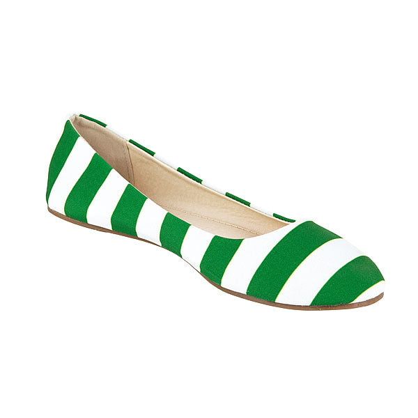 Kelly Green & White Flats - Lillybee Style