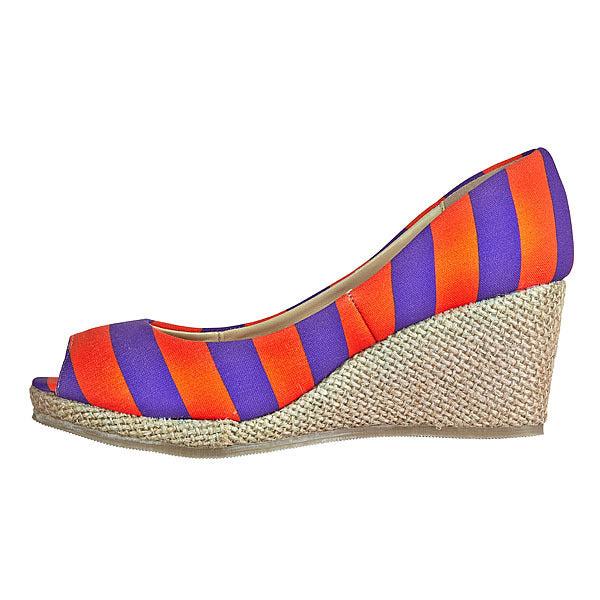 Purple & Orange Wedges