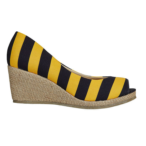 Black & Gold Wedges - Lillybee Style