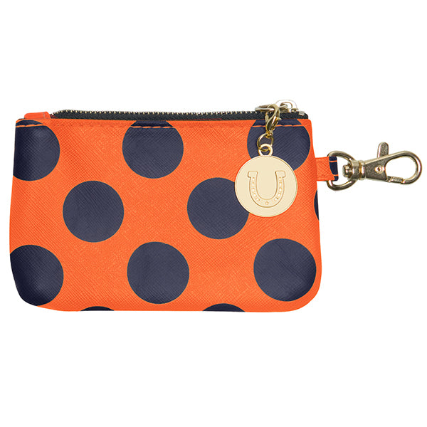 Dark Blue & Orange ID Case - Lillybee Style