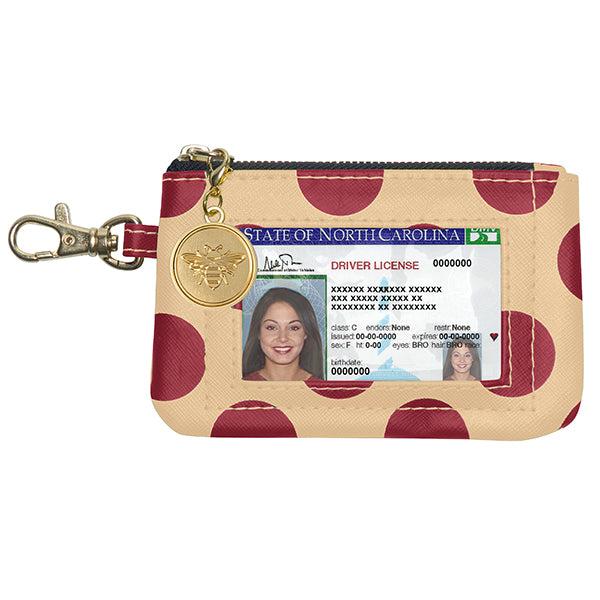 Garnet & Old Gold ID Case - Lillybee Style
