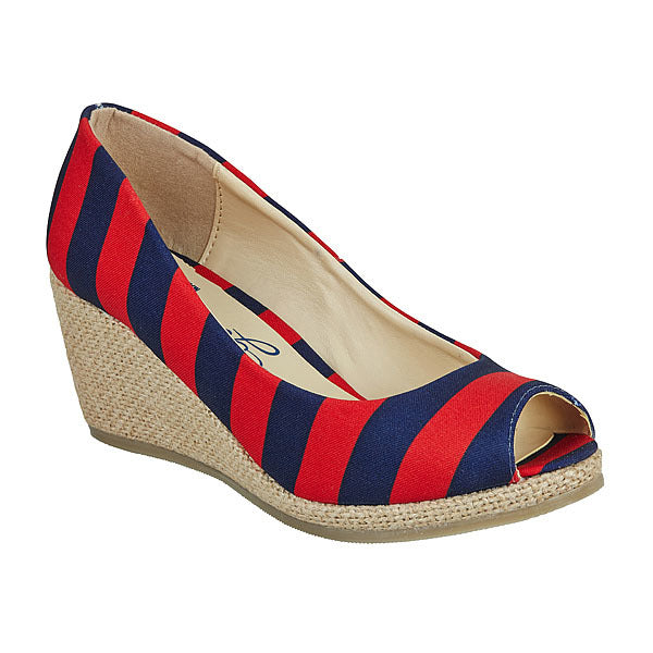 Dark Blue & Red Wedges - Lillybee Style