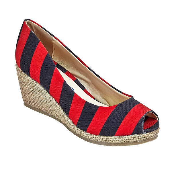 Red & Black Wedges - Lillybee Style