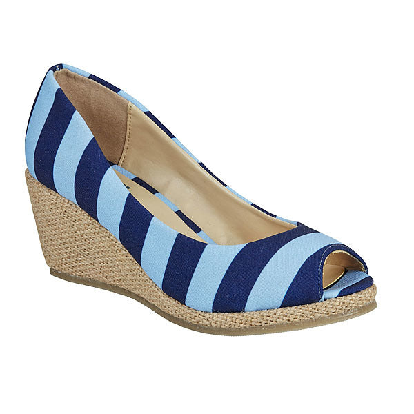 Dark Blue & Light Blue Wedges - Lillybee Style