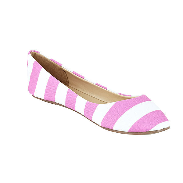 Bright Pink & White Flats - Lillybee Style
