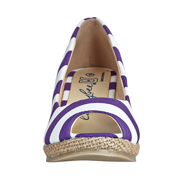Purple & White Wedges - Lillybee Style