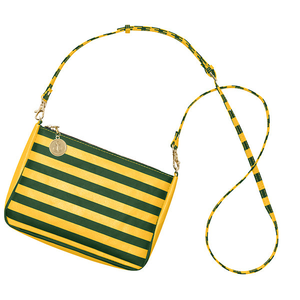 Green & Gold Crossbody Bag - Lillybee Style