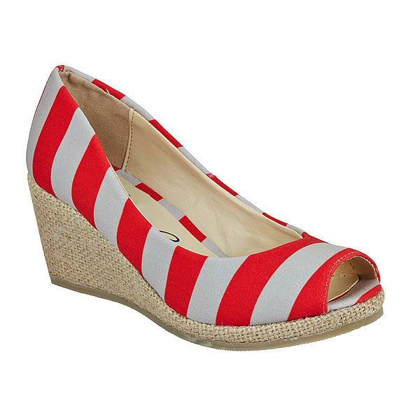 Scarlet & Gray Wedges - Lillybee Style