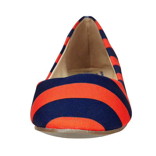 Dark Blue & Orange Flats - Lillybee Style