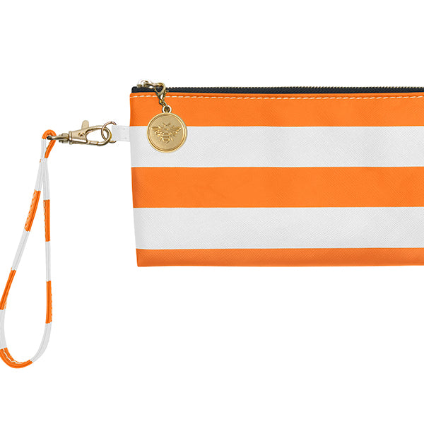 Bright Orange & White Wristlet - Lillybee Style