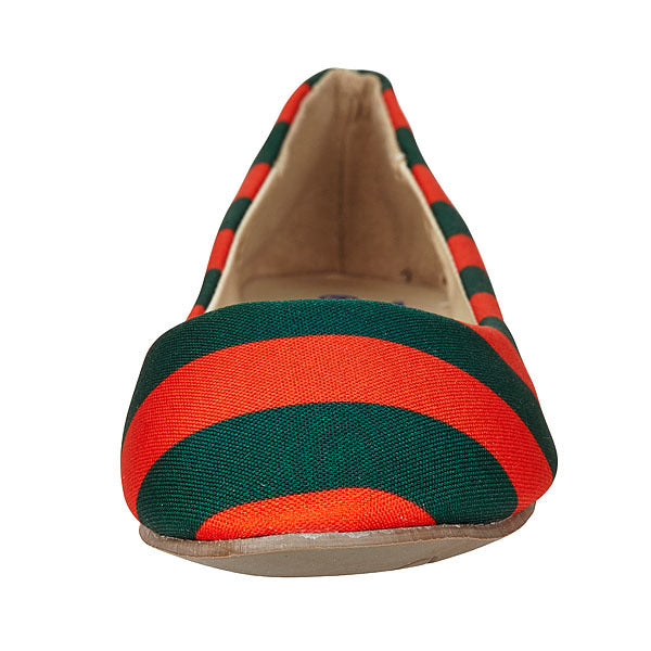 Green & Orange Flats - Lillybee Style