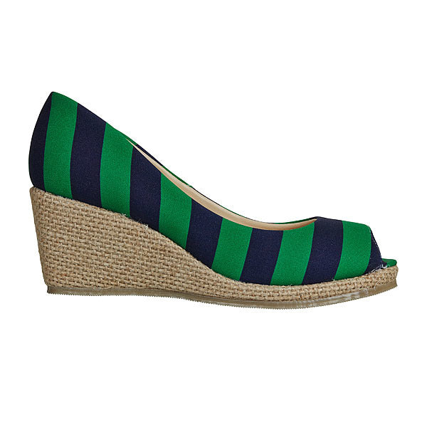 Green & Dark Blue Wedges - Lillybee Style
