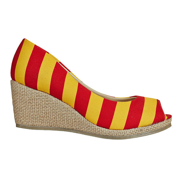 Red & Gold Wedges - Lillybee Style