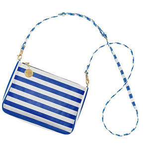 Royal Blue & White Crossbody Bag - Lillybee Style