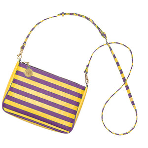 Purple & Gold Crossbody Bag - Lillybee Style