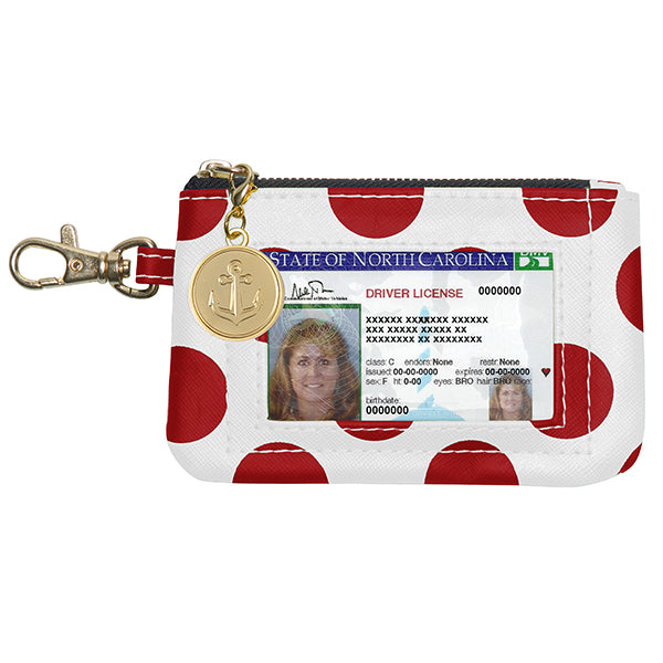 Red & White ID Case - Lillybee Style