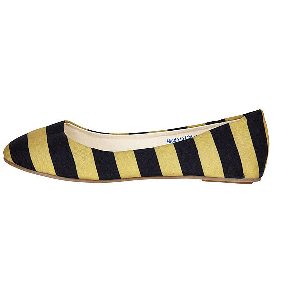 Black & Vegas Gold Flats - Lillybee Style