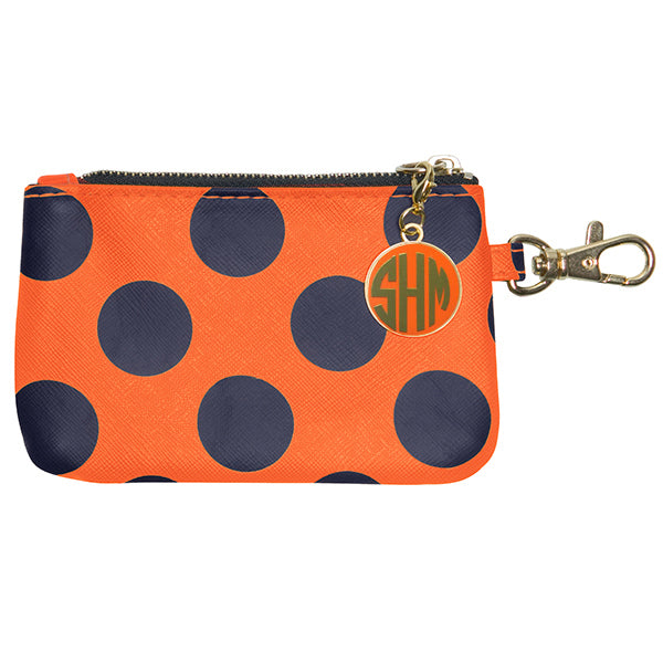 Dark Blue & Orange ID Case