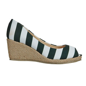 Dark Green & White Wedges - Lillybee Style