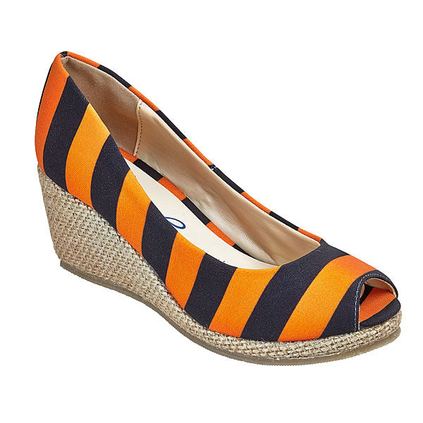Bright Orange & Black Wedges - Lillybee Style