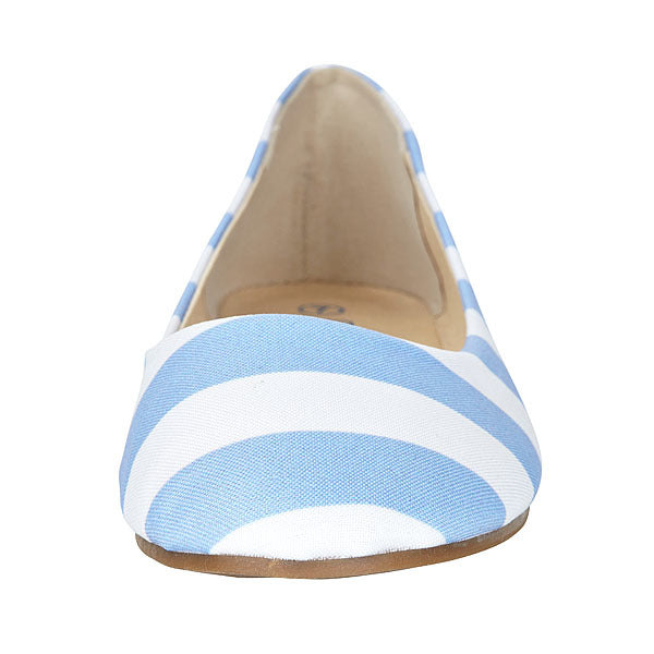 Light Blue & White Flats