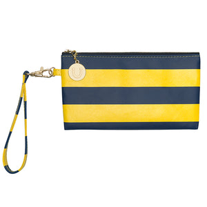 Dark Blue & Maize Gold Wristlet - Lillybee Style