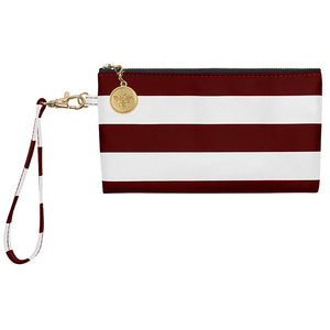 Maroon and White Wristlet - Lillybee Style