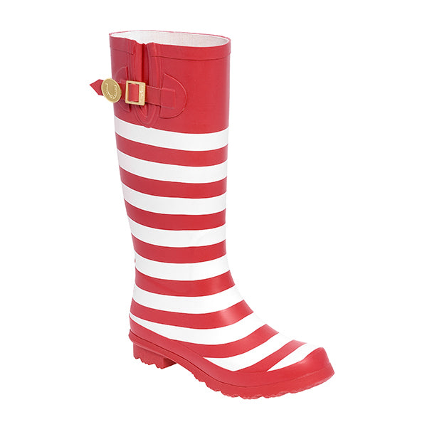 Red White & Striped Rainboots