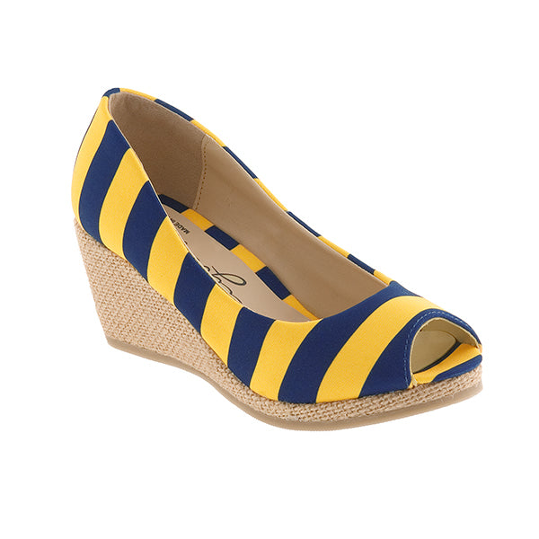 Dark Blue & Gold Wedges - Lillybee Style