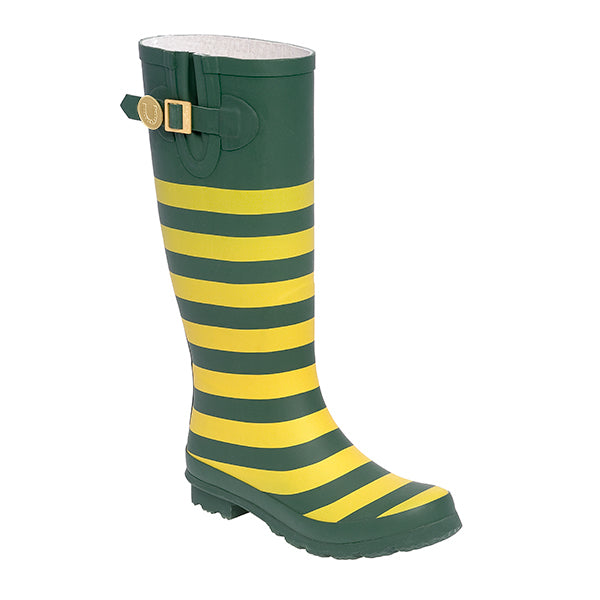 Green Gold & Striped Rainboots