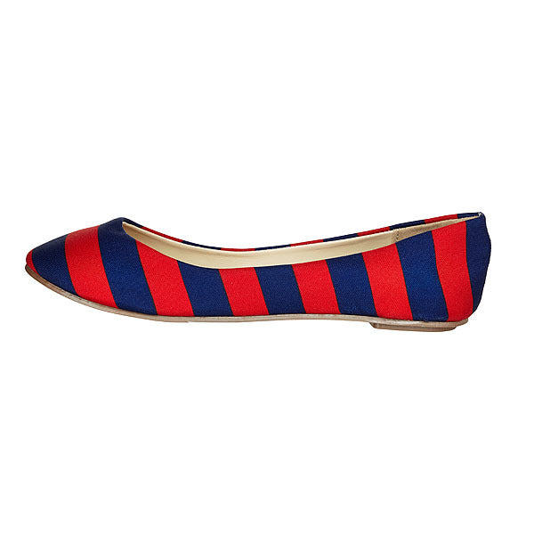 Dark Blue & Red Flats - Lillybee Style