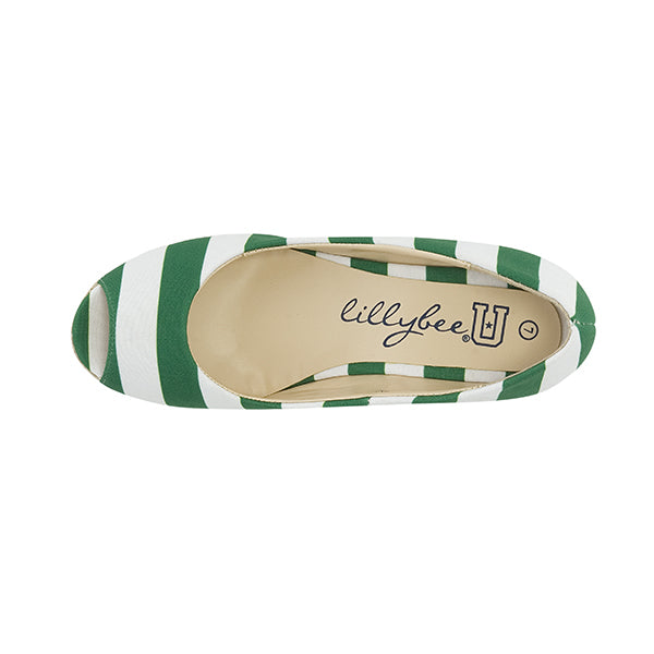 Kelly Green and White Wedge - Lillybee Style