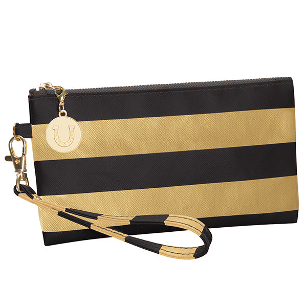 Black and Vegas Gold Wristlet