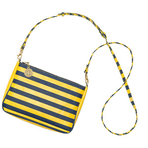 Dark Blue & Maize Gold Crossbody - Lillybee Style