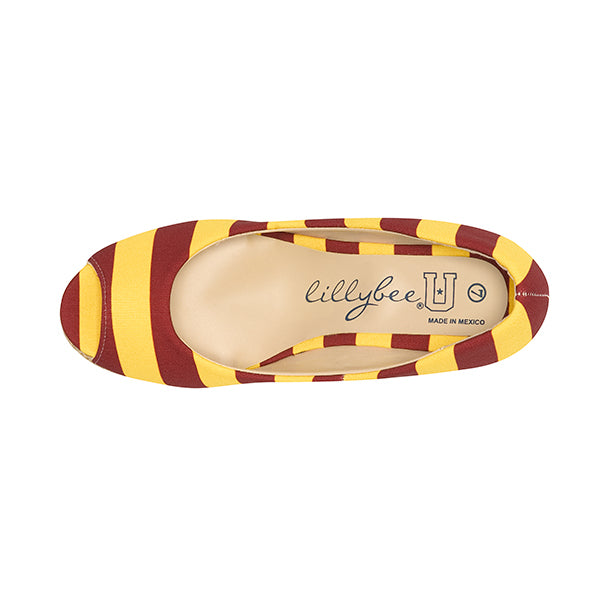 Garnet & Gold Wedges - Lillybee Style