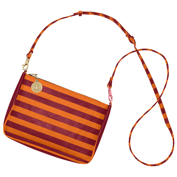 Maroon & Orange Crossbody Bag