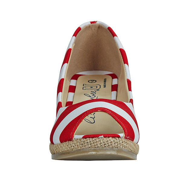 Red & White Wedges - Lillybee Style