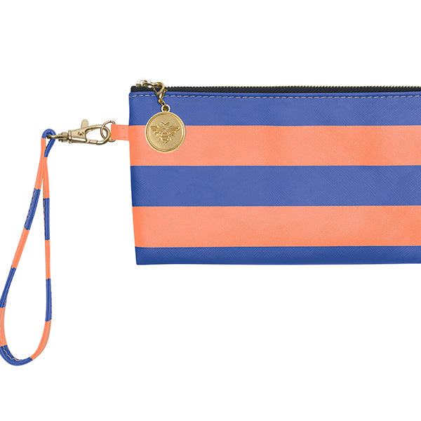 Royal Blue & Orange Wristlet - Lillybee Style