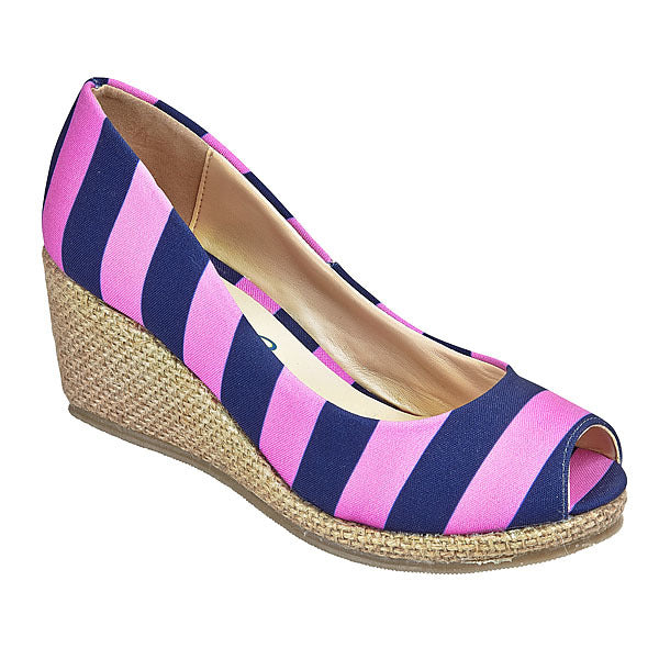 Pink & Dark Blue Wedges