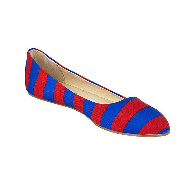 Royal Blue & Red Flats