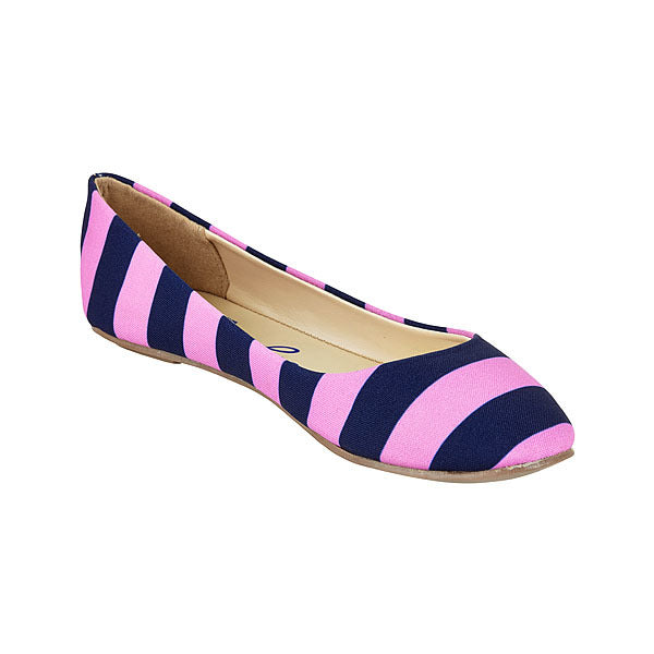 Dark Blue & Bright Pink Flats - Lillybee Style