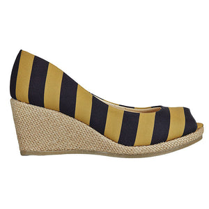 Black & Vegas Gold Wedges - Lillybee Style