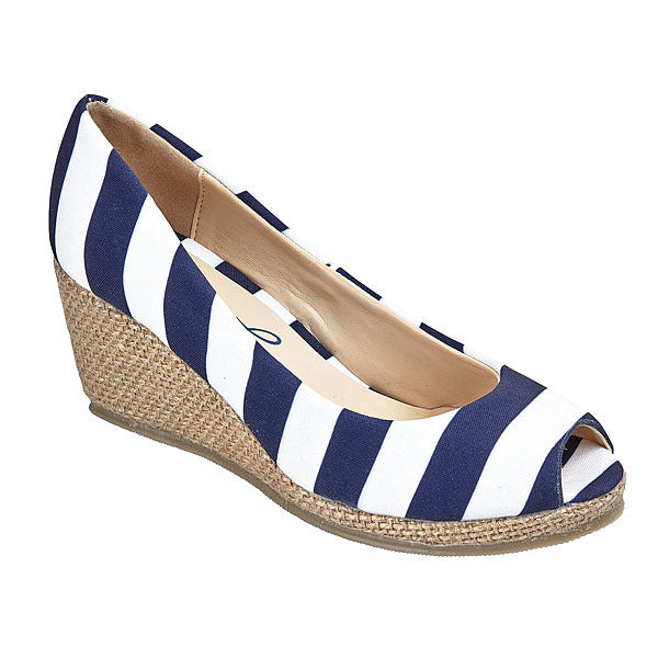 Dark Blue & White Wedges